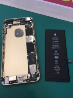 iPhone6sPlus,修理,千葉,船橋,印西,バッテリー交換