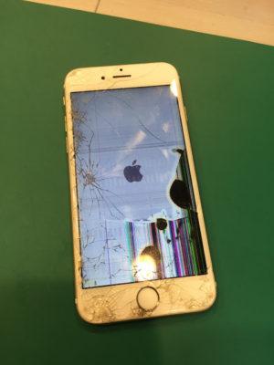iPhone6s,画面割れ,ガラス割れ,液晶割れ,タッチパネル,液漏れ,破損
