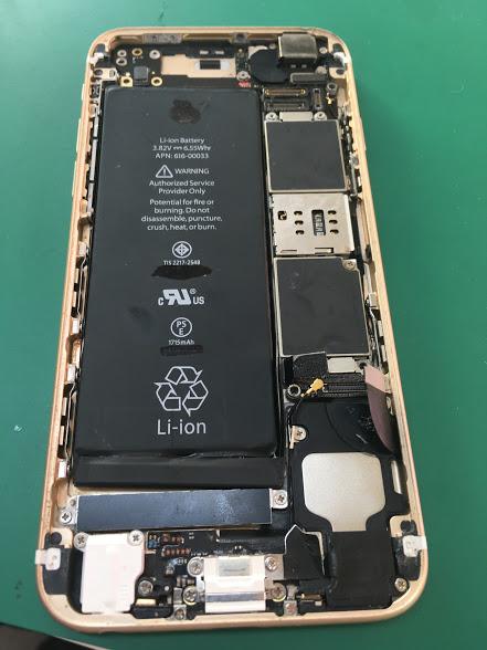 津田沼でiPhoneの水没修理の修理後