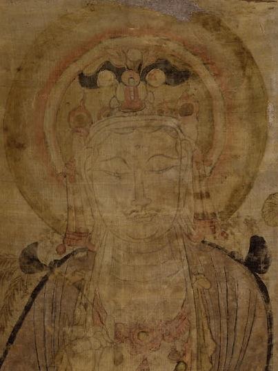 Avalokiteśvara in a Dunhuang painting (1919,0101,0.25)