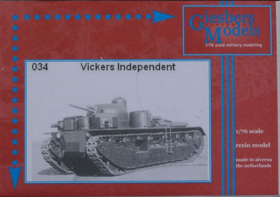A1E1 Vickers Indipendent Heavy Tank.