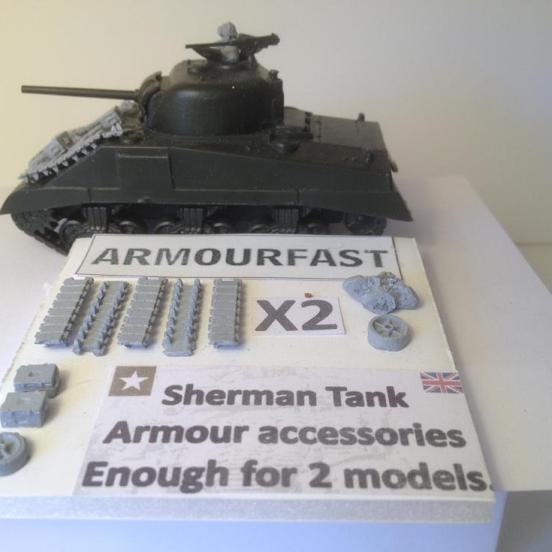 Track link Armour to up-armour Sherman tanks for 2 kits
