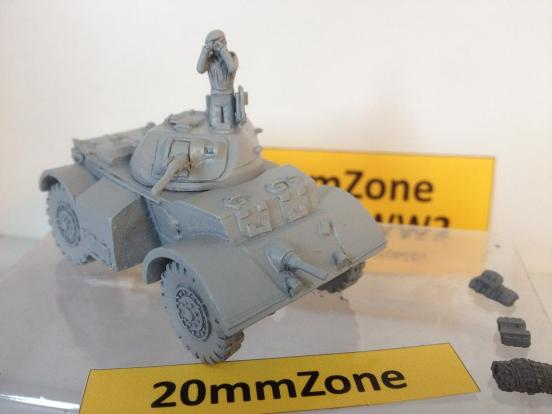 Staghound armoured car T-17E1 with standard stowage bins.