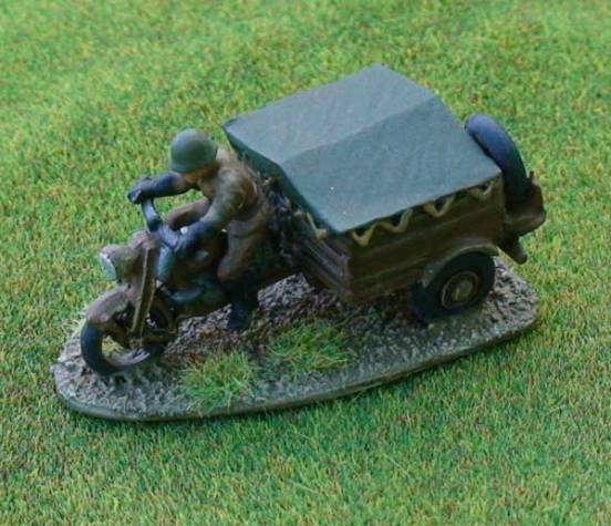 Belgian FN Infantry Tricar with Rider - can be used as