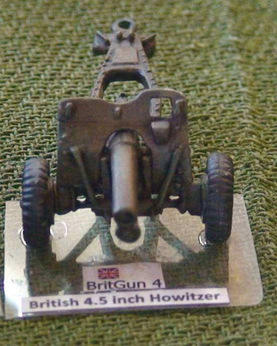 British 4.5 inch Howitzer with pnuematic tyres