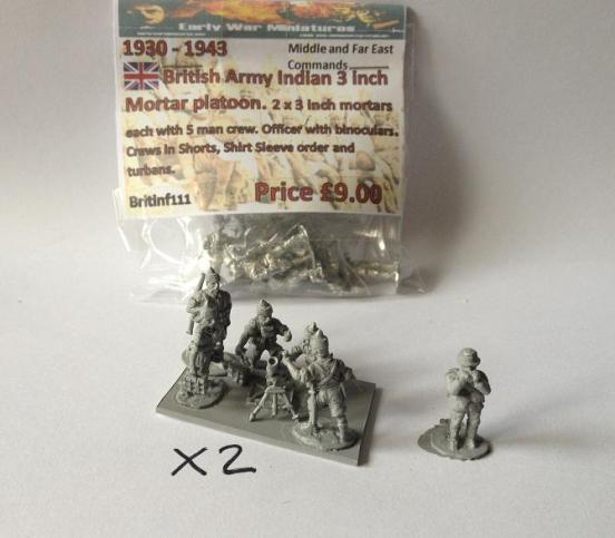 """Indian Infantry 3 inch Mortar section  - 2 x 3"""" mortar teams"""