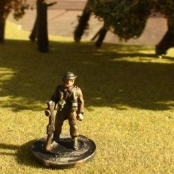 "1 x Infantryman standing in the ""at ease"" position"