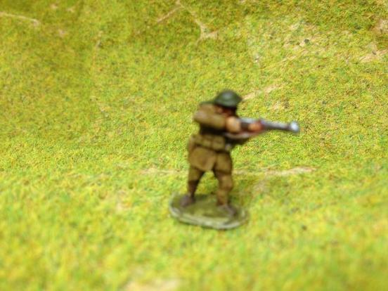 (TL) 3 Infantry helmet & 1908 pattern webbing firing rifles