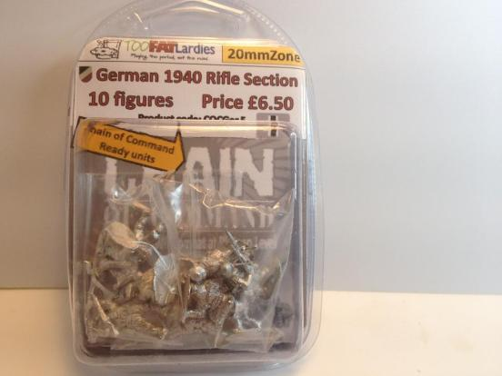 German 1940 rifle section - 10 figures