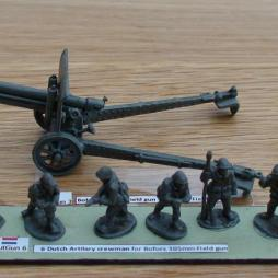 Bofors 105mm Field gun and 6 crewmen as a set