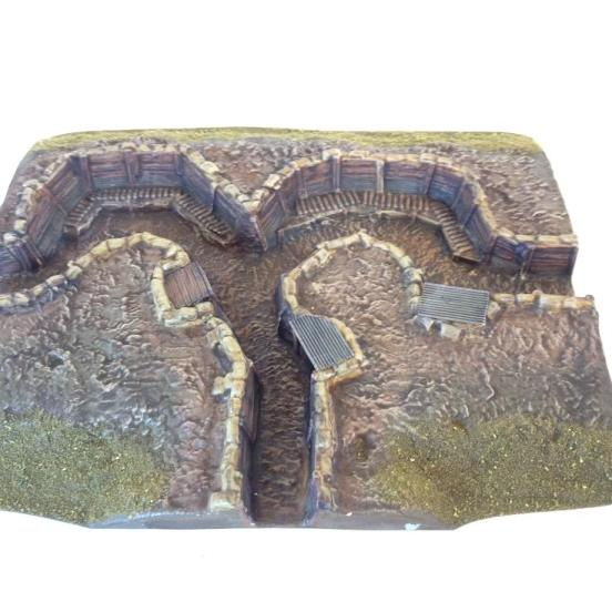 British Trench with 2 firing bays and rear comms trench link
