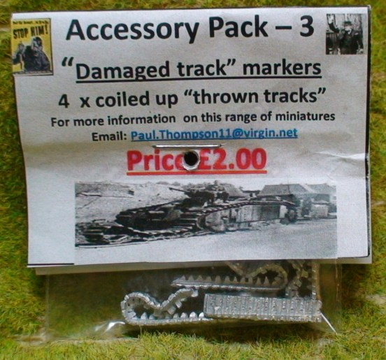 """Damaged track markers - 4 coiled up """"thrown tracks"""""""