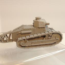 2 x Renault FT 17 Light Tank with trench crossing tail
