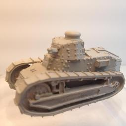 2 model Renault FT 17 Light Tank with 37mm turrets.