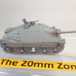 Hetzer 38(t) with optional side Schutzen, crewman and MG