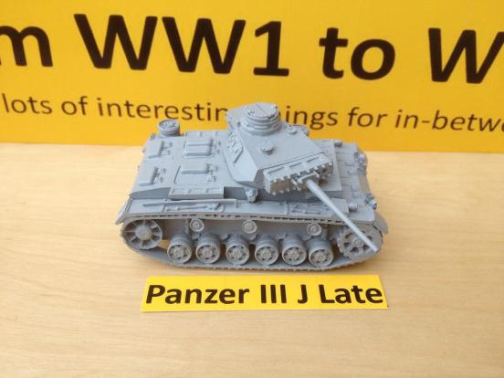 Panzer III J Late model, L60 gun comes with crewman, optional add