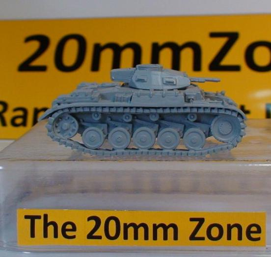 Panzer II Ausf 1940. Rapid build kit with a 26 second build time
