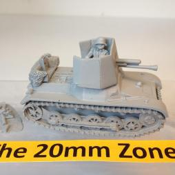 Panzer Jager 1 PAK 4.7cm Self Propelled Gun SPG with 2 crewman,