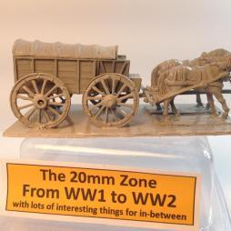 1 x Horse Drawn supply wagon and 2 horse team