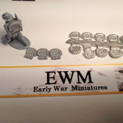 20 Italian Army Infantry rear packs to be attached to figures