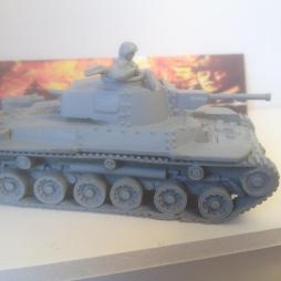 ype 97 Shinhota Chi-Ha Medium Tank with crewman. Highly detailed