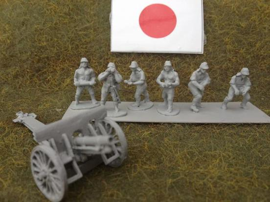 6 Japanese artillery crew for type 38 field gun.