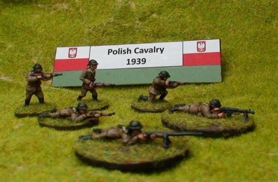 Dismounted Polish Cavalry standing firing