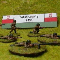 Dismounted Polish Cavalry standing firing