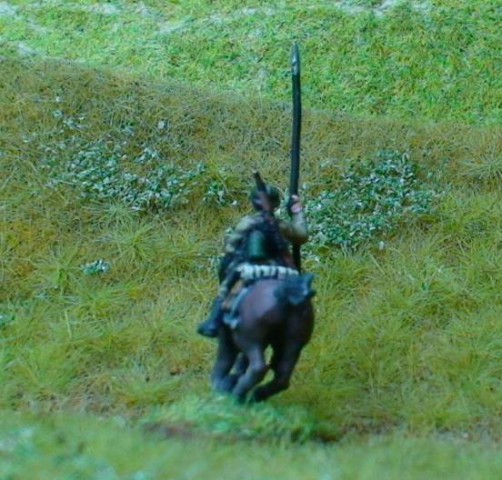 1 x Cavalry Ulan Lancer mounted holding lance,