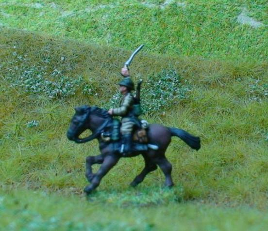 1 x Cavalry Ulan - Sabre raised mounted on horse