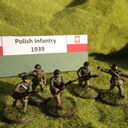 Polish Company HQ. 13 men. Officer mounted, 2 NCO, 4 stretcher