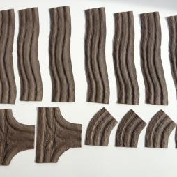 Open narrow tracks multiset for 20mm to 15mm scale.