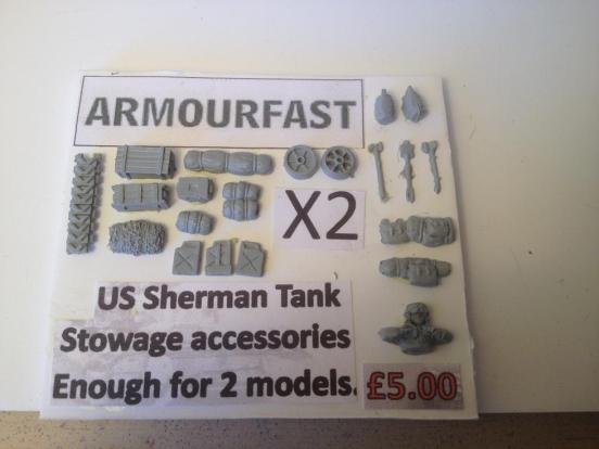 Sherman Stowage and crew with enough for 2 models