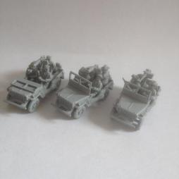 Early War Jeep Set of all three Jeeps Scout, Reccon and Radio.