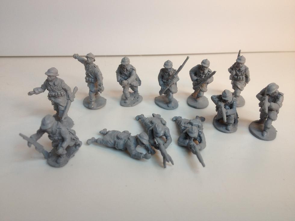 13 man Belgian Army WW1 1917-18 rifle section