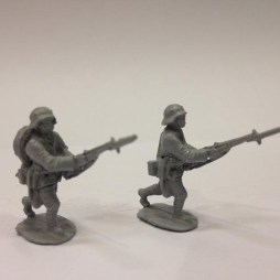 2 Stormtroopers attacking with bayonets fixed,
