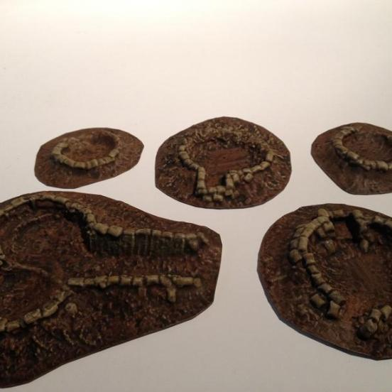 5 Reinforced Shell holes plus accessories. 1917 to 1918