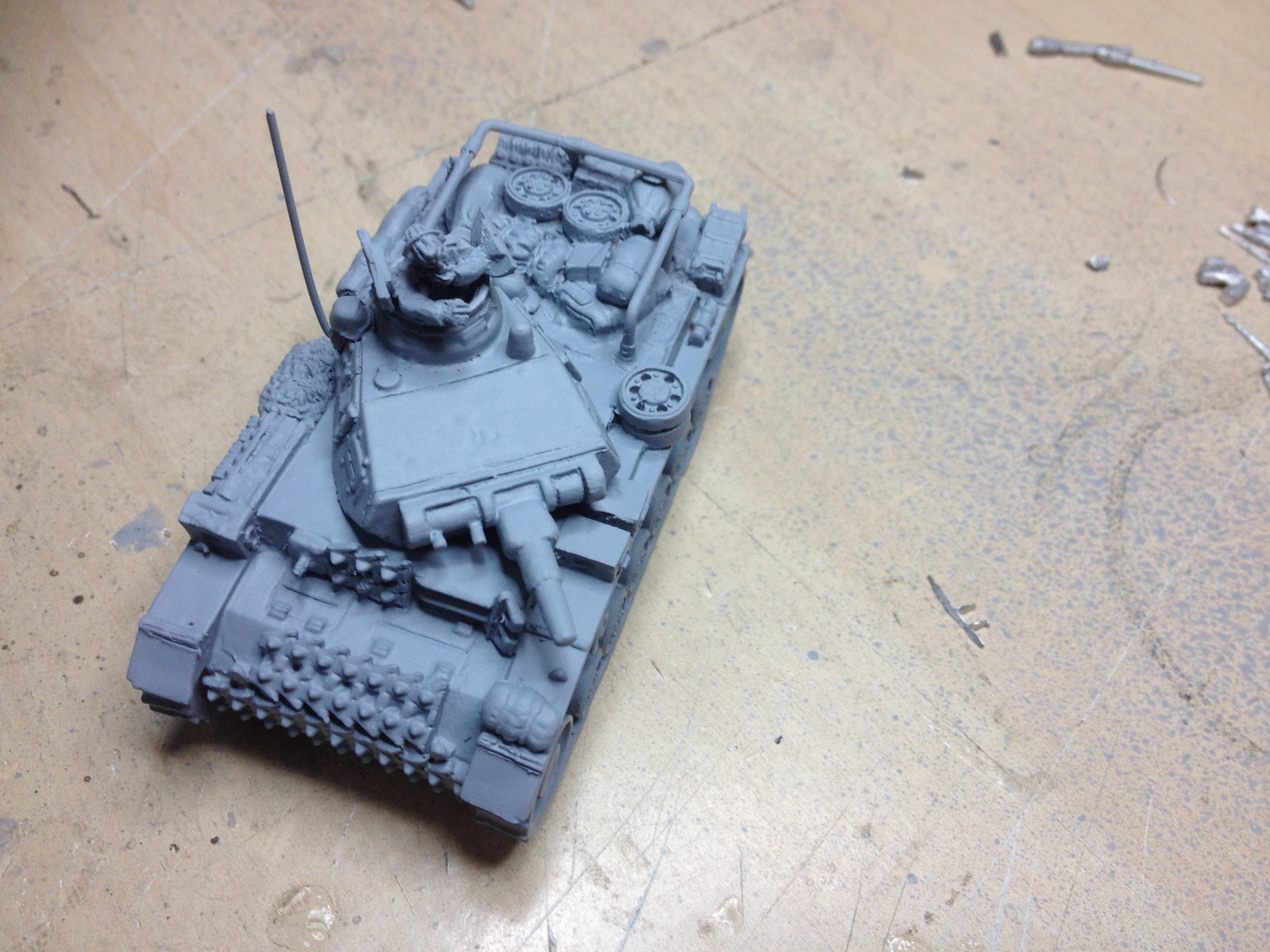 DAK Panzer IIIE Command Tank for early war Panzer Army Africa, Limited  Edition kit, built & Ready