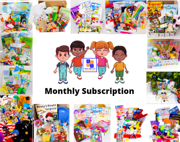 Subscription box, themed, EYFS, educational, childrens subscripton box, early years, kids subscription box, craft, activity box, craft, activity, children's activity