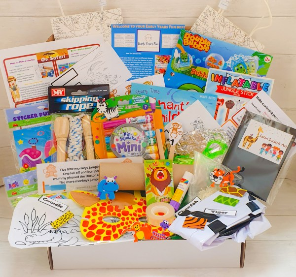 Subscription box, safari themed, craft, activity, children's activity