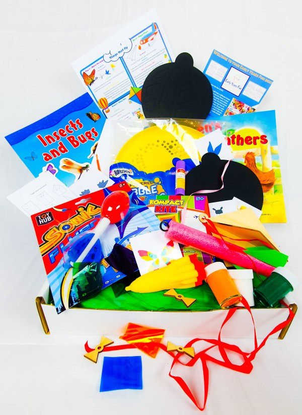 Subscription box, things that fly themed, craft, activity, children's activity