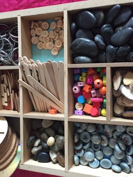 selection of loose materials