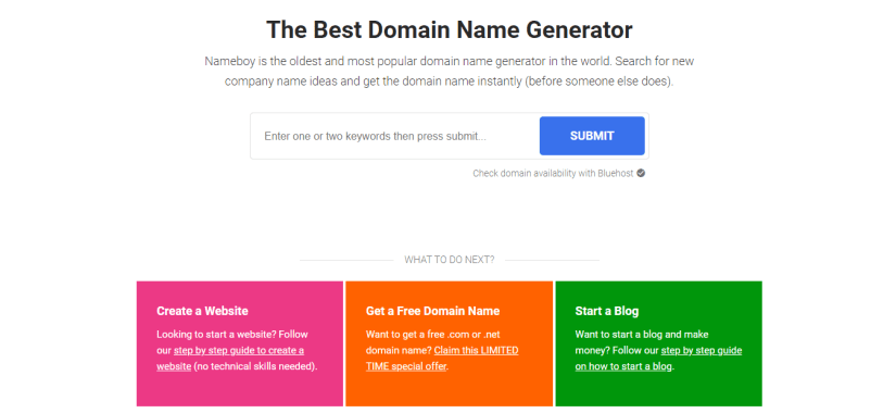 Nameboy - The best domain and blog name generator