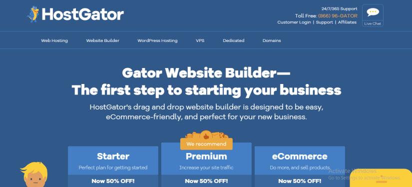 Gator Website Builder By Hostgator