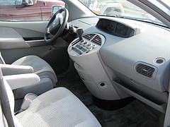front seats inside a clean mini van