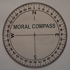 picture of compass titled Moral Compass