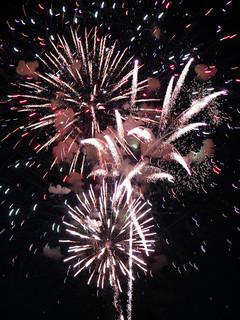 fireworks against night sky