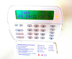 control panel for home security system