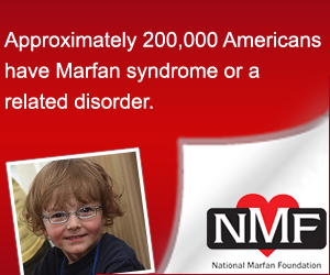 banner warning about Marfan Syndrome