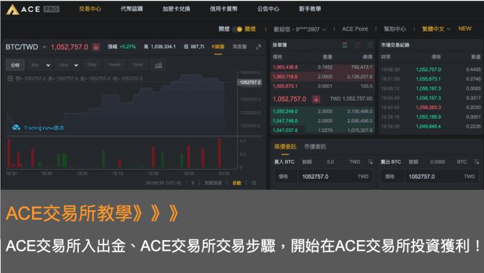 ACE交易所教學:ACE交易所入出金、ACE交易所交易步驟,開始在ACE交易所投資獲利!